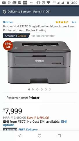 New printer with installation
