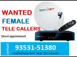 Wanted female telecaller