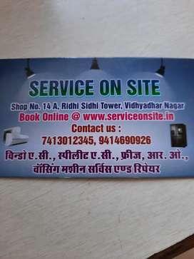 Ac service freeze repair R O service washing machine service electric