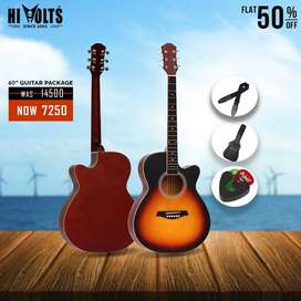 """ACOUSTIC GUITAR 40"""" WITH PACKAGE AT 50% OFF"""