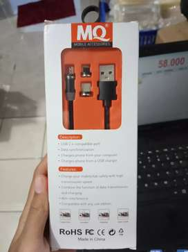 kabel data-kabel charger-MQ magnetic 3in1-micro typec iphone-cas cepat
