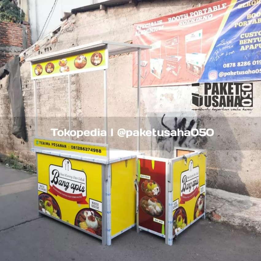 Booth portable gerobak lipat meja lipat murah berkualitas 0