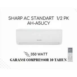 AC SHARP 1/2 PK GARANSI KOMPRESOR 10 TH