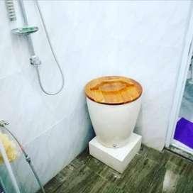 bak mandi bertutup kayu jati jepara