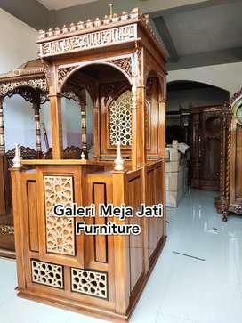 Mimbar masjid kubah mimbar masjid ukir J568 kode