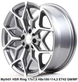 velg model racing MYTH01 HSR R17X75 H8X100-114,3 ET42 GMMF