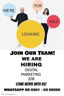 Come and be part of our team for face book marketing work