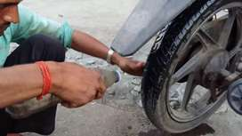 Urgent requirement for two wheeler tire Puncher technicians