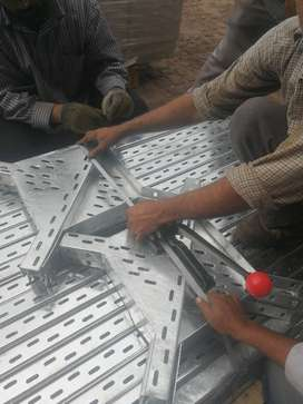cable tray perforated GI Hot Dip Galvanized ladder type complete set
