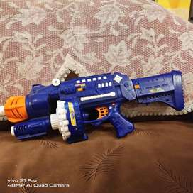 A fast firing top rated gun for kids with foam bullets