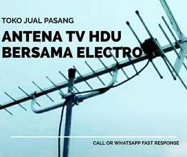 Teknisi layanan pasang antena tv outdoor teluknaga