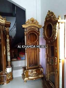 Ready lemari Jam Material Kayu Jati #34