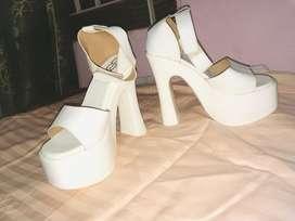 Block platform heels- brand new
