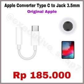 Converter Type C To Jack 3.5mm - ORIGINAL APPLE 100% - READY STOCK