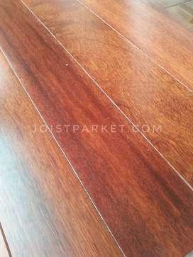 lantai kayu indoor parket flooring kempas lebar 7cm
