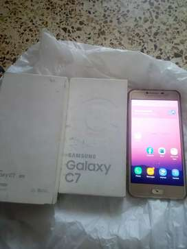 samsung c7 4gb 64gb dual sim pta approved with box read add.