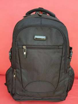 Tas import eks SLAZENGER backpack/ransel kanvas tebal hitam bsar keren