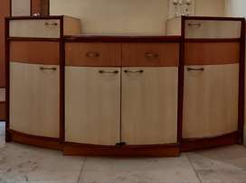 Solid wooden TV unit with storage