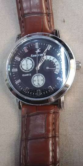 New model Fastrack leather watch