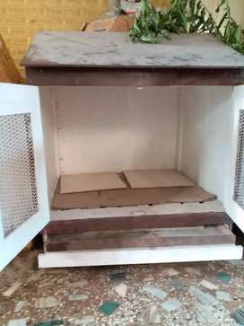 Pet house made of wood and well maintained