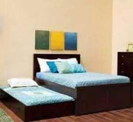 Tempat tidur anak susun 2sap material kayu jati AJF1816