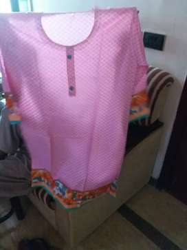 pink lawn kurti in good fabric