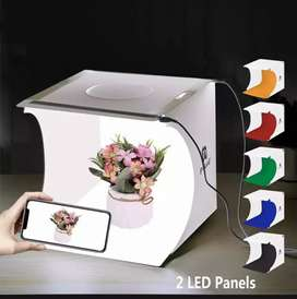 Photography light box with 2 led panel