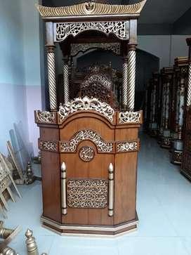 Mimbar masjid cantik mewah jati182.424