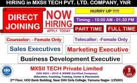 Urgent Female Job in Yamunanagar