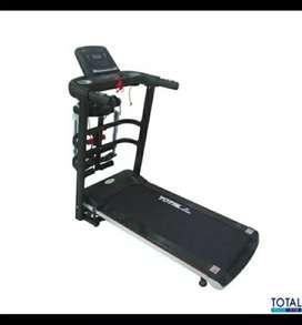 Alat fitnes treadmill elektrik 3 fungsi tl 607 termurah