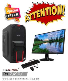 Dual Core  | 4GB Ram | 320GB HDD | LED | Keyboard | Mouse (Seal Pack)