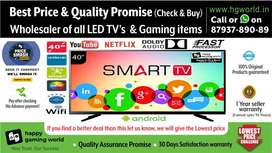 """40""""Smart Led Tv Brand New Unbelievable(Wholesale BestQuality 24""""to65"""")"""