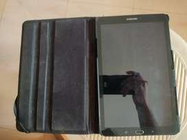 Samsung Galaxy Tab E with hard case
