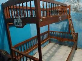 Ranjang tingkat kayu jati (dipan tingkat)