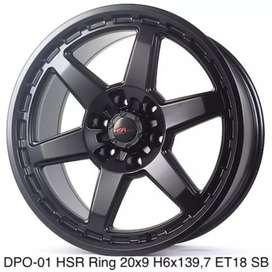 Jual velg Jambi DPO-01 HSR R20X9 H6X139,7 ET18 SATIN BLACK