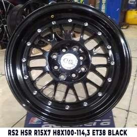 VELG MOBIL  RS2 HSR R15X7 H8X100-114,3 ET38 BLACK