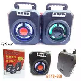 Speaker portable LED brilliant Bluetooth