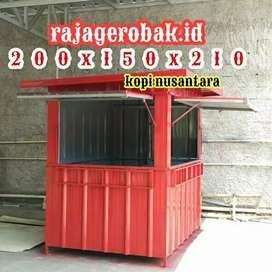 Semi booth container