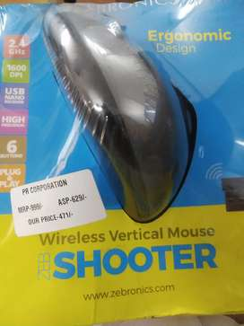 Brand New Zebronics Ergonomic Design Mouse