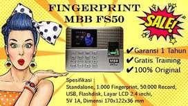 TERMURAH Fingerprint MBB FS50 Alat Absensi Sidik Jari Absen MURAH AWET