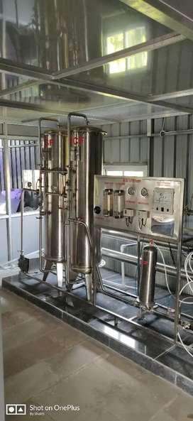 RO plant 1000L Stenless steel