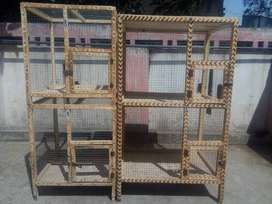 2 wooden cages avail