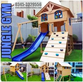 Kids Playground Equipments | Swing Slide Seesaw | Blue Line Fiberglass
