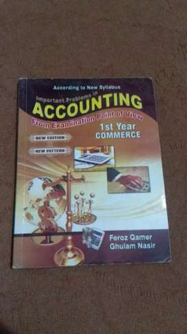 Accounting for 1st year Commerce