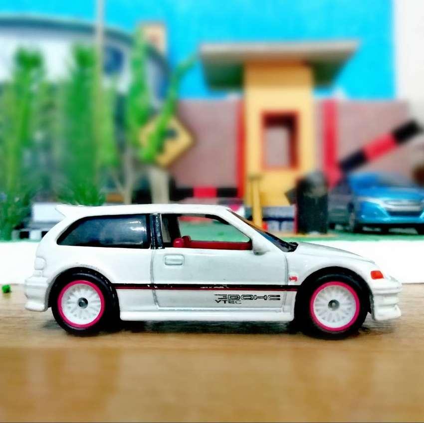 Hot wheels Hotwheels 1990 Honda Civic EF White Putih Custom ban karet 0