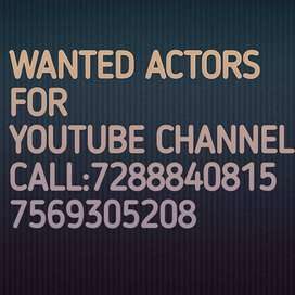 Wanted actors for youtube channel