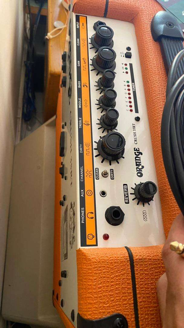 Ampli gitar Orange crush 35RT Ori baru 3 bulan 0