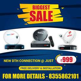 AIRTEL , TATA SKY and DISH DTH in best price plus same Day Installed .