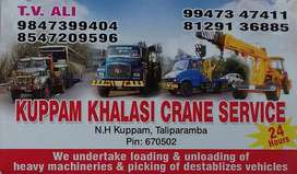 Kuppam, Khalasi Works, Crane Services, Vehicle Towing, Recovery Kannur