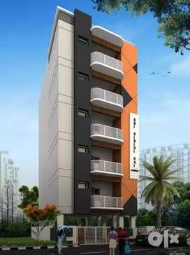 1345sqft newly 3bhk 3bath furnished flat at Vijayawada